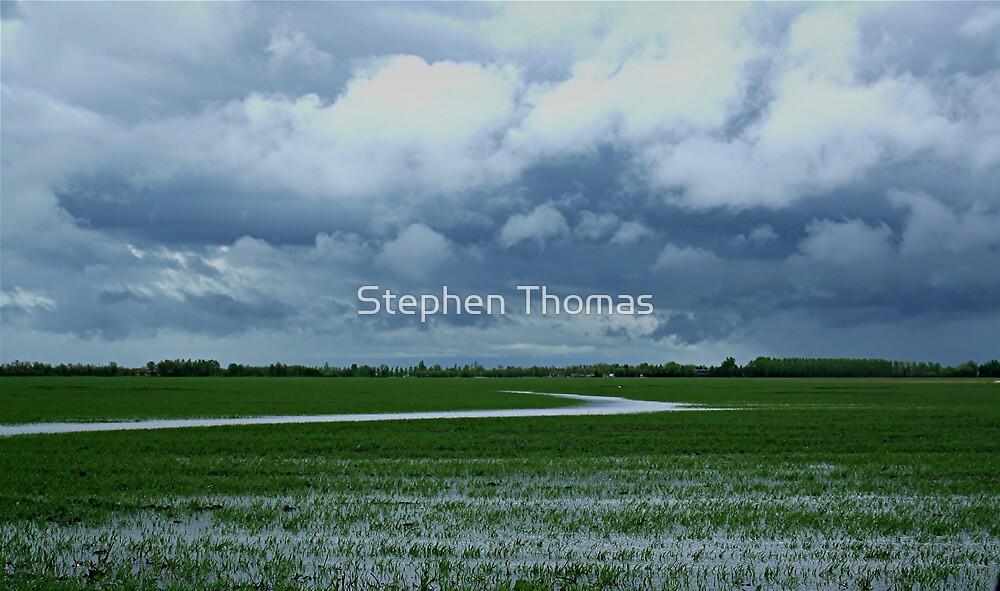 Wet day On The Prairies by Stephen Thomas
