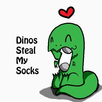 Dino's steal my socks (For girl shirts) by MafiaThirteen