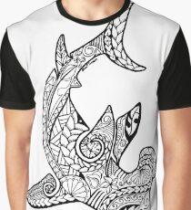 Tribal Polynesian Hammerhead Shark Graphic T-Shirt