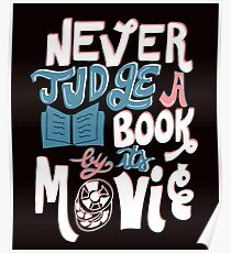 Never Judge a Book By Its Movie Funny Poster