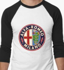 Antique Alfa-Romeo Classic Car Sign Men's Baseball ¾ T-Shirt
