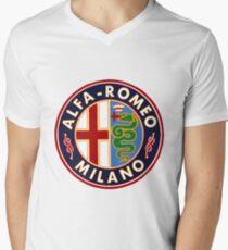 Antique Alfa-Romeo Classic Car Sign Men's V-Neck T-Shirt