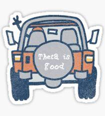 Theta is good sticker Sticker