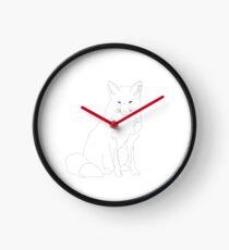 Line Fox Clock