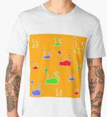 cats cartoon graphic color Men's Premium T-Shirt