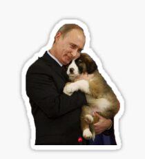 Putin mit Hund Sticker