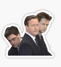 Ed milliband, David Cameron and Nick Clegg Sticker