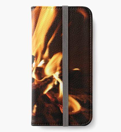 Flammen iPhone Flip-Case