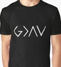 God is greater than the highs and lows - white Graphic T-Shirt