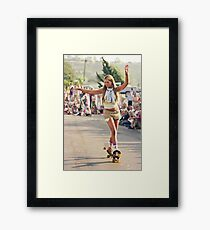 1970's Skateboard Girl Framed Print