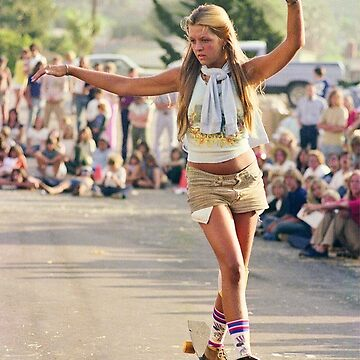 1970's Skateboard Girl by congohammer