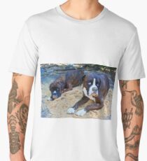Just trying to help!  -Boxer Dogs Series- Men's Premium T-Shirt