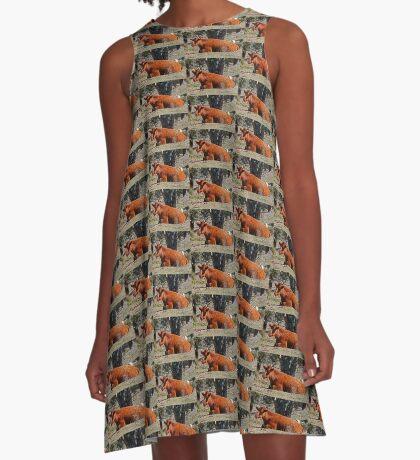 Ruhe A-Linien Kleid