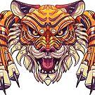 Mecha-Tiger Pounce by derangedhyena