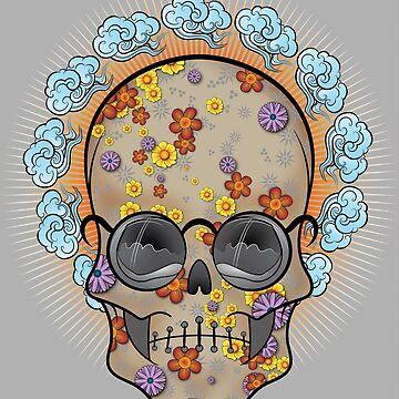 Flower Power (Skull Dude) by ScottyTattoo