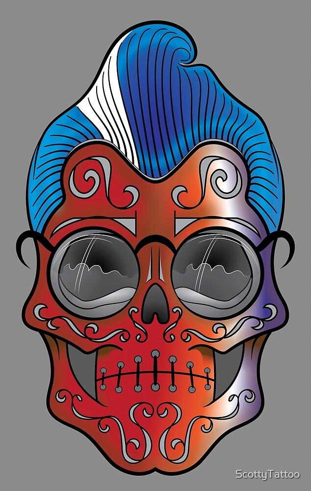 Rocker (Skull Dude) by ScottyTattoo