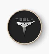 Tesla_Motors_Logo_Black Clock