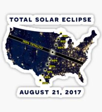 Total Solar Eclipse August 21, 2017 Sticker Sticker