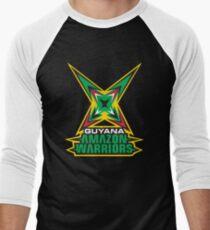 Guyana Amazon Warriors Cricket CPL T-shirt Men's Baseball ¾ T-Shirt