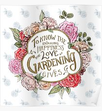 The Love of Gardening Poster