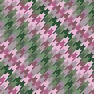 Houndstooth: Pink and Green by Aakheperure