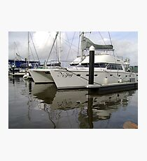 Twin-Hulled Cruiser Photographic Print