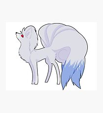 Shiny Ninetails Photographic Print