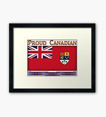 Canadian 1957 Canada Flag cup phone case etc  Framed Print
