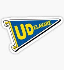 University of Delaware Pennant Flag Sticker