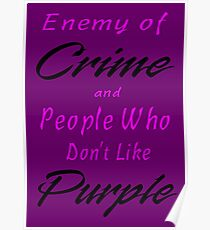 Enemy of Crime Poster