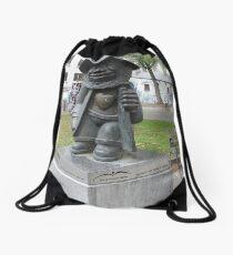 Little Man - Big Heart Drawstring Bag