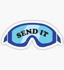 """Send It"" Ski Goggles Sticker"