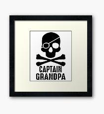 CAPTAIN GRANDPA Framed Print