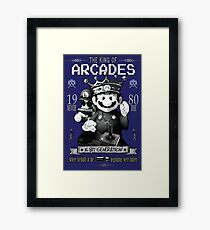 Super Mario Bros - The king of Arcade Framed Print