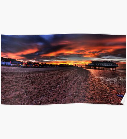 Sunset at Cleethorpes Pier. (Cleethorpes, UK) Poster
