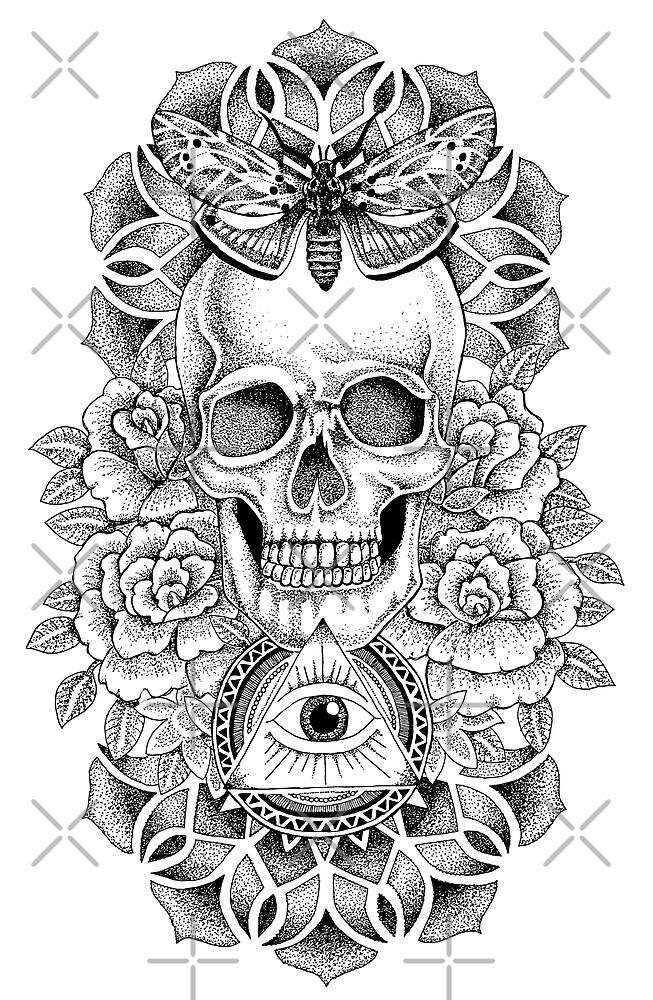 Soul Seeker Floral Skull by georgiamason