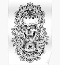 Soul Seeker Floral Skull Poster