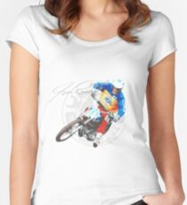 Jim Pomeroy Tribute Women's Fitted Scoop T-Shirt