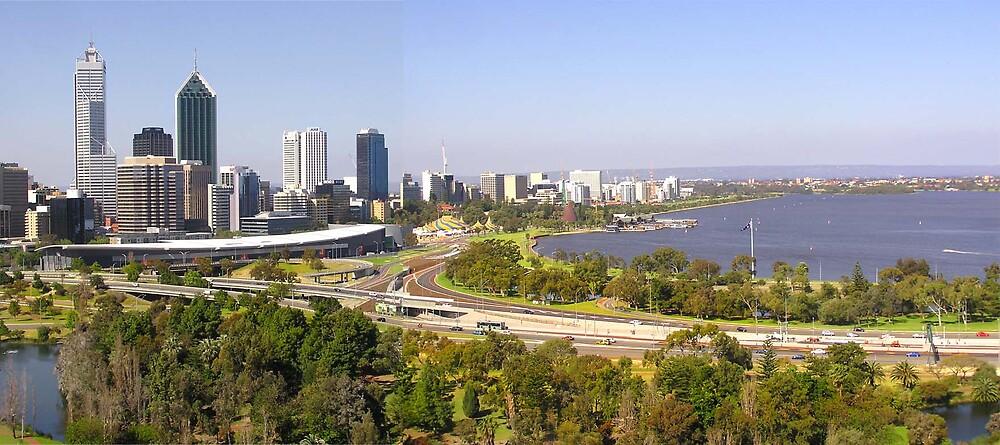 Perth skyline by georgieboy98