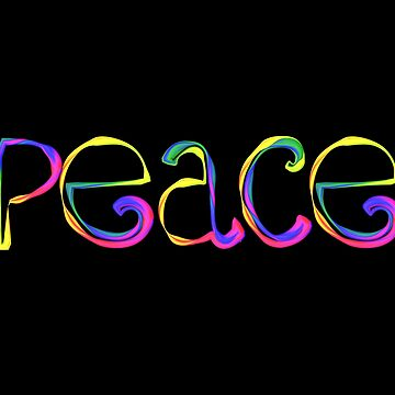 Peace Rainbow Lettering by Lozmosis
