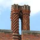 The Chimneys of Hampton Court Palace. England by hans p olsen
