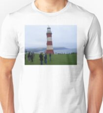 Smeatons/Tower/Lighthouse, Plymouth Hoe, Devon. Unisex T-Shirt