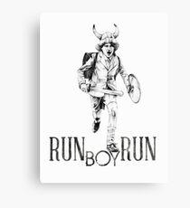 Run boy... run Canvas Print