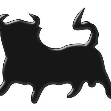 Stylized Black Bull Design by biglnet