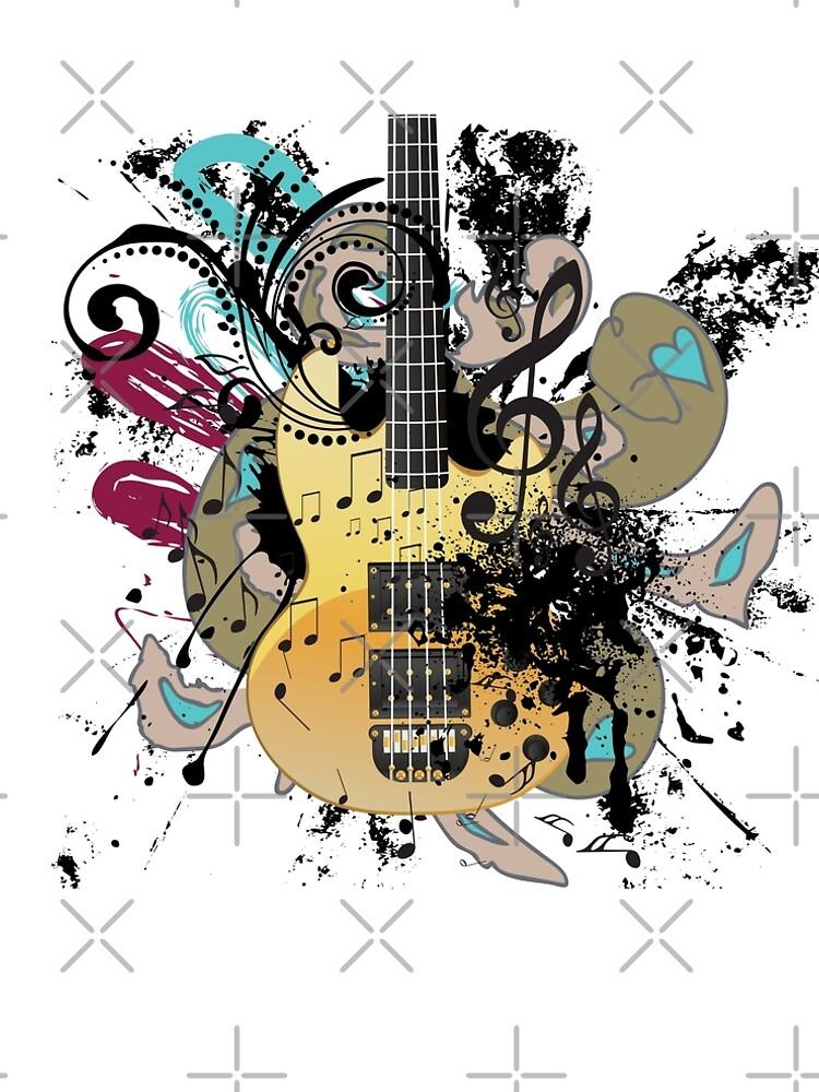 Guitar with floral by AnnArtshock