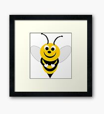 Bumble Bee Design Framed Print