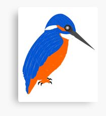 Blue And Orange Kingfisher Canvas Print