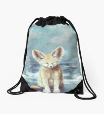 A Fennec's Dream Drawstring Bag