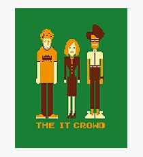 Retro Pixel - The IT Crowd Photographic Print
