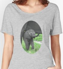 Baby African Elephant Women's Relaxed Fit T-Shirt